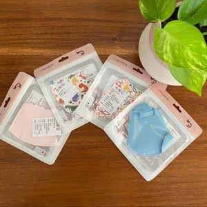 4 kids face masks new with tags